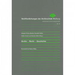 VÖ 59: Archiv-Recht-Geschichte